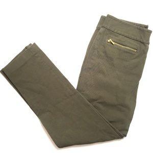 Ralph Lauren Women's 4P Green Slim Mid waist Pants